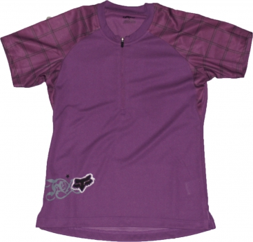 FOX racing Girls Tempo S/S Jersey - ultraviolett - S