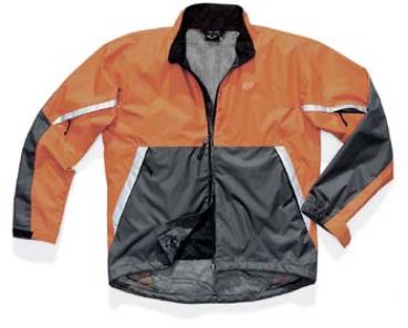 FOX racing Mens Stormblock Jacket - orange/grau - S
